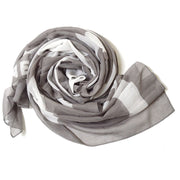 CHANEL Sport Line Big Stole Scarf Gray Small Good