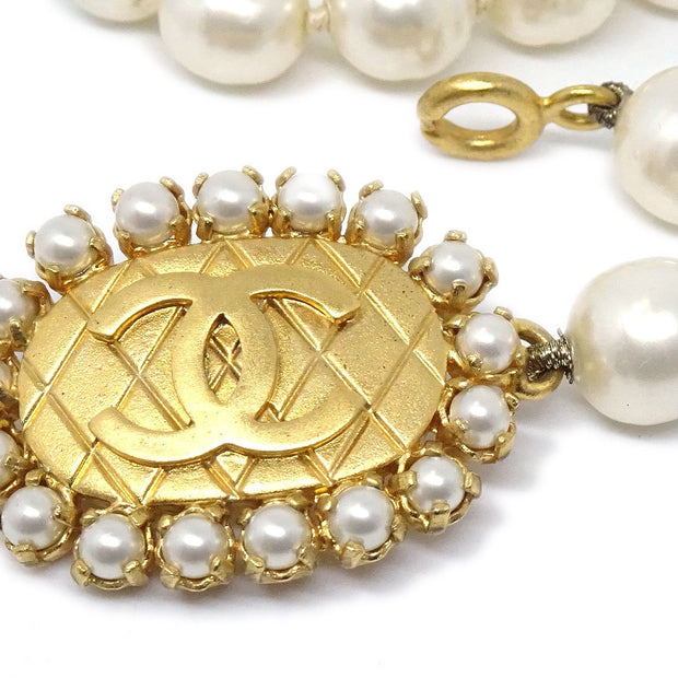 CHANEL Imitation Pearl Necklace Pendant 96P