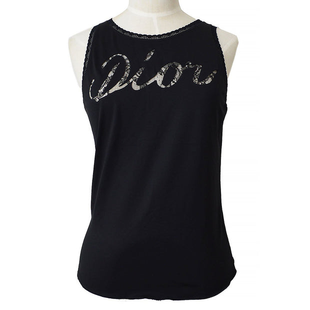 Christian Dior Sleeveless Tops Black