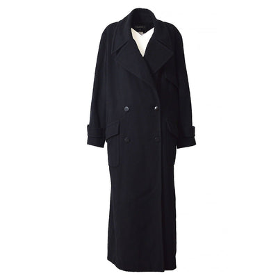 CHANEL 99A #36 Long Coats Jacket Black