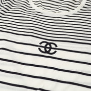 CHANEL #42 CC Striped T-shirt Black White