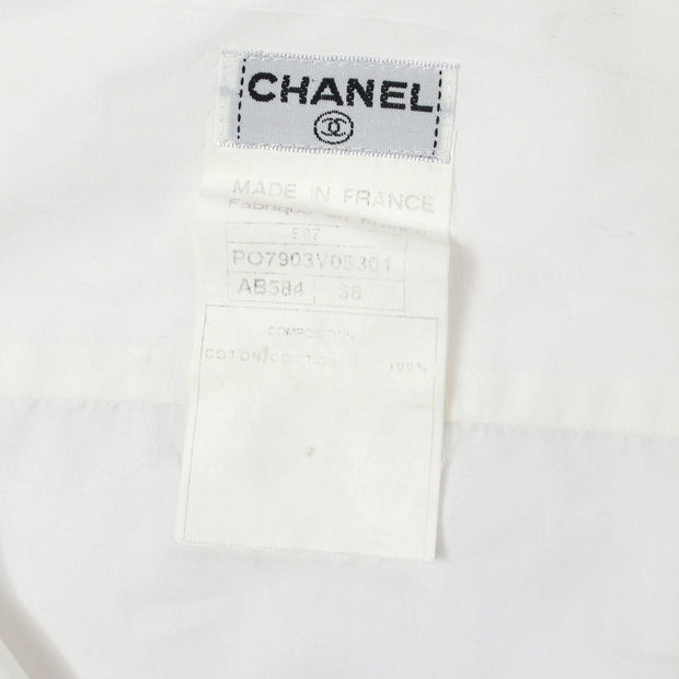 CHANEL E97 #38 CC Shirt Blouse White