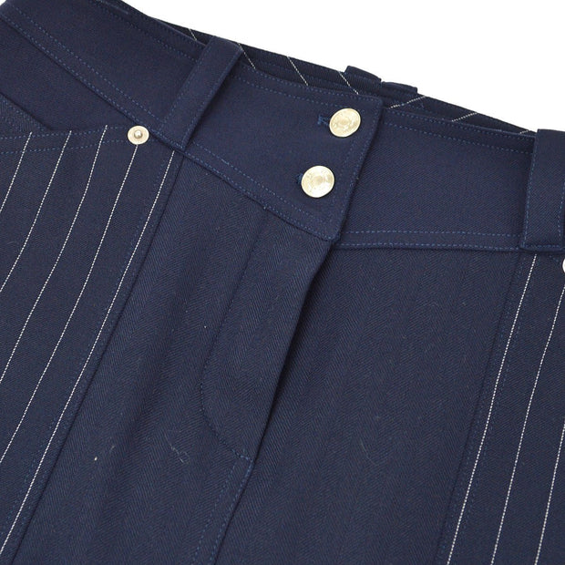 Christian Dior Striped Pattern Skirt Navy #40