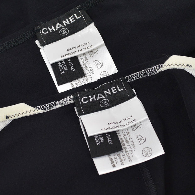 CHANEL 03P #36 Swimwear Swimsuit Black