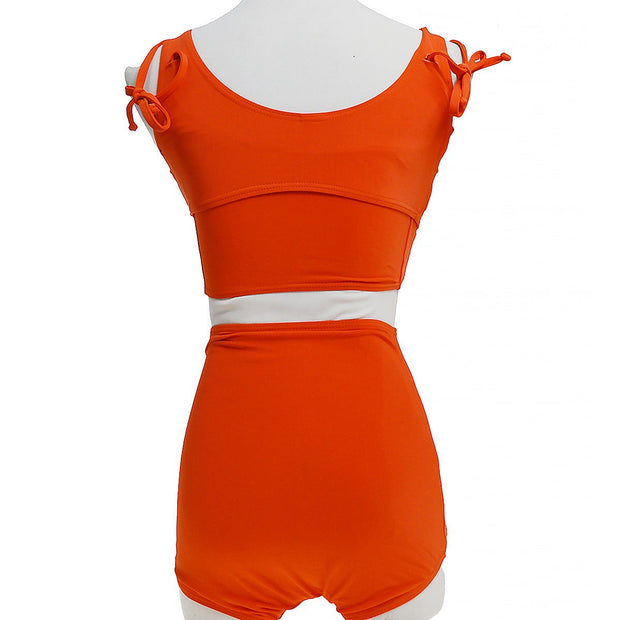 CHANEL #36 Swimwear Swimsuit Red