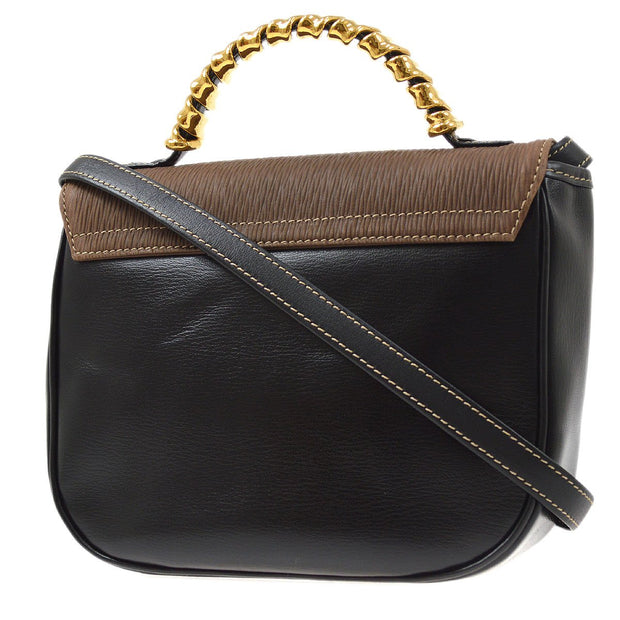 LOEWE VELAZQUEZ 2way Hand Shoulder Bag Black Brown