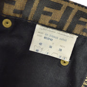FENDI Zucca Pattern Setup Jacket Skirt Brown