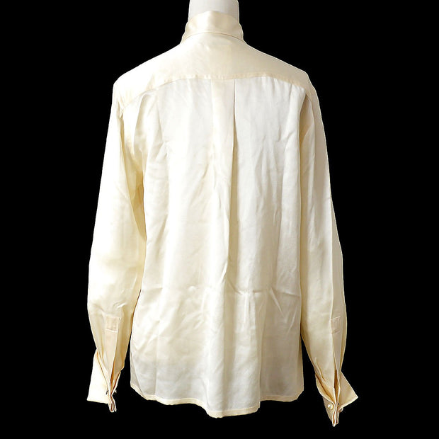 CHANEL 98A #34 Long Sleeve Tops Shirt Blouse Ivory