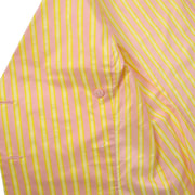 CHANEL 04C #34 Sleeveless Tops Stripe Shirt Pink Yellow