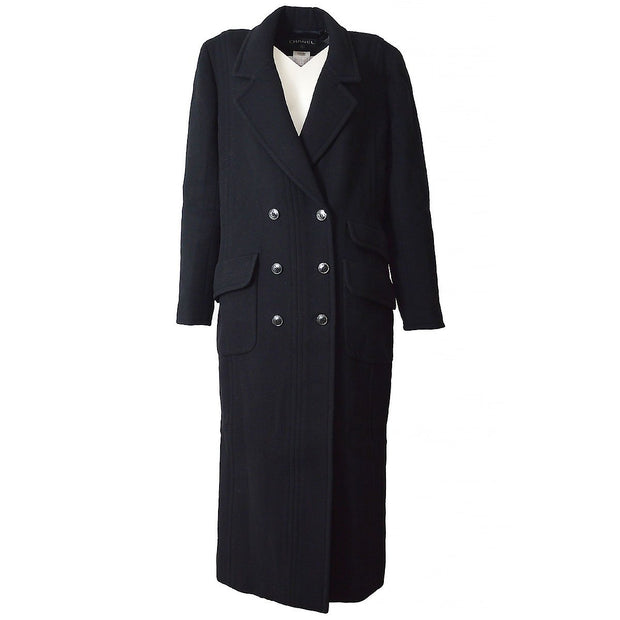CHANEL Long Coat Jacket Black #38 98A