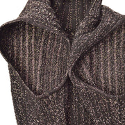 CHANEL 01A #38 Turtleneck Sleeveless Sweater Brown