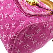 LOUIS VUITTON NEO SPEEDY HAND BAG PINK MONOGRAM DENIM M95214