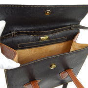 LOEWE BARCELONA 2way Hand Shoulder Bag Black