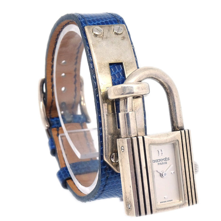 Hermes Kelly watch Ladies Quartz Wristwatch Couchevel Blue