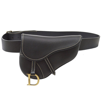 Christian Dior Saddle Waist Bum Belt Bag Black