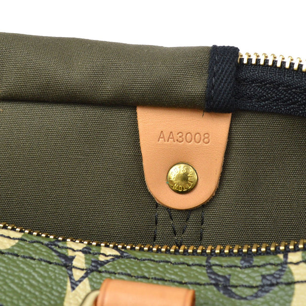 LOUIS VUITTON SPEEDY 35 HAND BAG MONOGRAM CAMOUFLAGE M95773