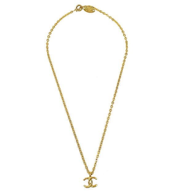 CHANEL Mini CC Gold Chain Pendant Necklace 376/1982