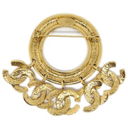 CHANEL CC Charm Brooch Pin Corsage Gold 94P