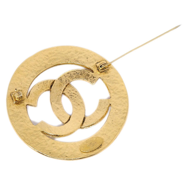 CHANEL Medallion Brooch Pin Corsage Gold 94P