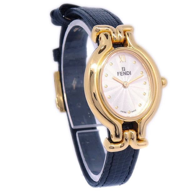 FENDI 640L Changeable Band Ladies Wristwatch Quartz Gold Registered Model