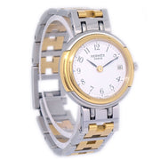 HERMES Clipper Ladies Quartz Wristwatch Stainles ssteel