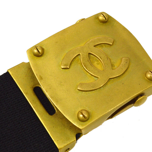 CHANEL IG Belt Black 94P #75/30 SMALL GOOD