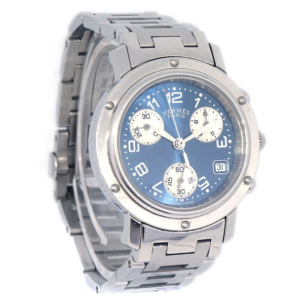 HERMES Clipper Chronograph CL1.310 2110*** Ladies Quartz Wristwatch