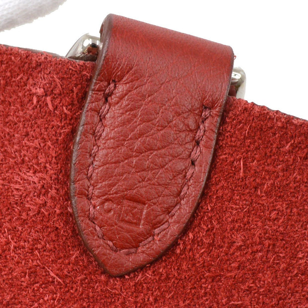 HERMES MAJOIR PM Hand Bag Red Taurillon Clemence