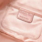 Christian Dior Lady Dior Cannage Rhinestone Chain Shoulder Bag Pink Satin