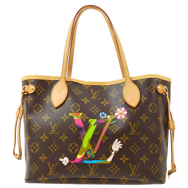 LOUIS VUITTON NEVERFULL PM HAND TOTE BAG MURAKAMI EDITION M95559
