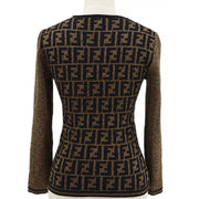 FENDI Zucca Pattern Sweater Brown #38