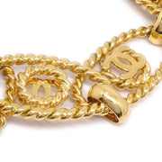 CHANEL Gold Chain Belt 25 Small Good