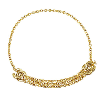 CHANEL Gold Chain Belt 6051 Small Good