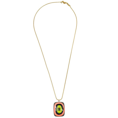 CHANEL Gold Chain Pendant Necklace 03P