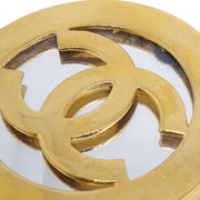 CHANEL Miror Medallion Brooch Pin Corsage Gold 25