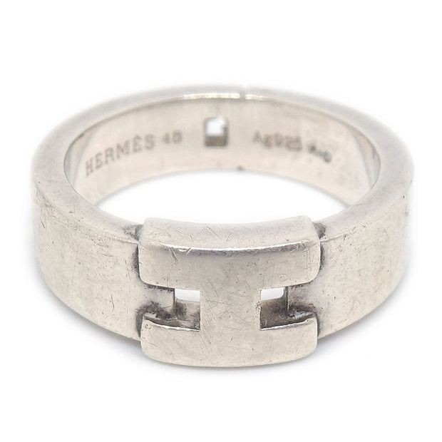 HERMES Hercules Ring Silver Ag925 Size 4.5 #48
