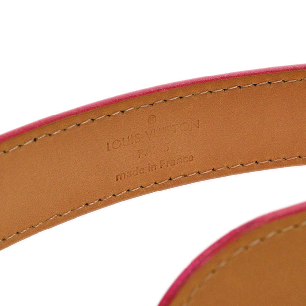 LOUIS VUITTON CEINTURE PHOENIX BELT VERNIS PINK M96670 #90/36 SMALL GOOD