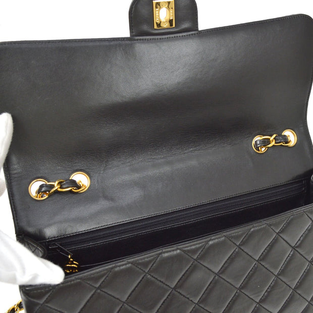 CHANEL Classic Flap Jumbo Double Chain Shoulder Bag Black