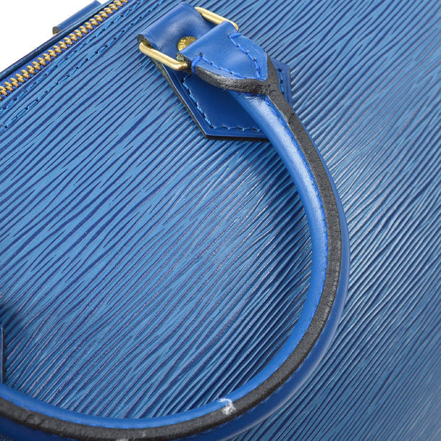 LOUIS VUITTON SPEEDY 30 HAND BAG BLUE EPI M43005