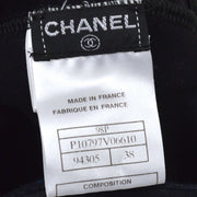 CHANEL 98P #38 Swimwear Swimsuit Black
