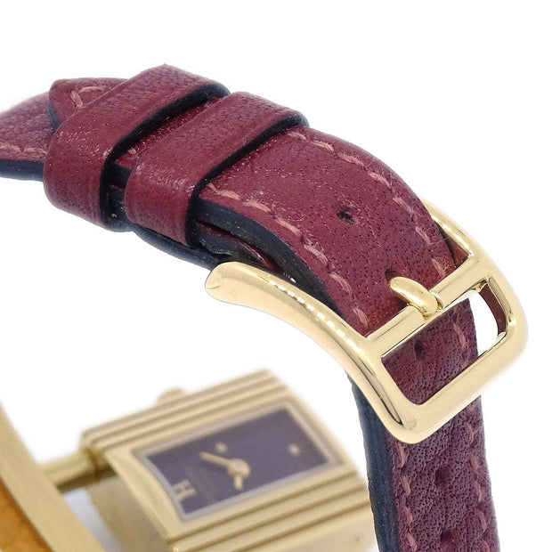 Hermes Kelly watch Ladies Quartz Wristwatch Watch Buffle Skipper Burgundy