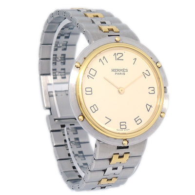 HERMES Clipper Unisex Quartz Wristwatch Watch Stainless steel
