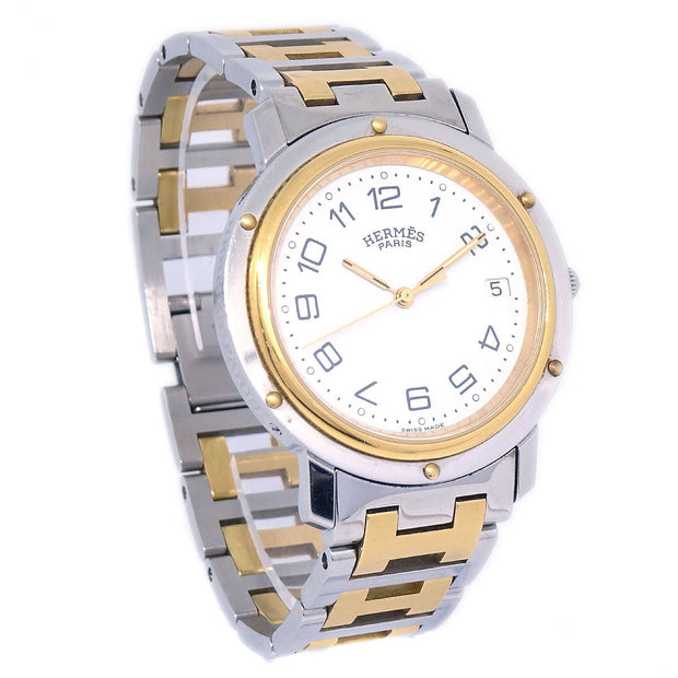 HERMES Clipper Date CL3.740 Unisex Quartz Wristwatch Watch
