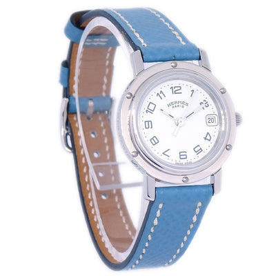 HERMES Clipper Date CL4.210 Ladies Quartz Wristwatch Watch