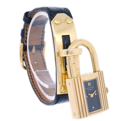 Hermes Kelly watch Ladies Quartz Wristwatch Watch Crocodile skin Black