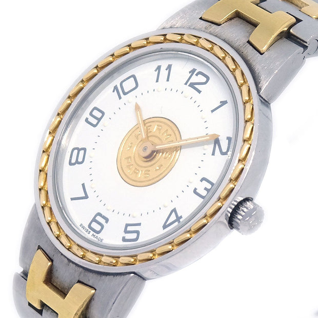 HERMES Sellier Ladies Quartz Wristwatch Watch