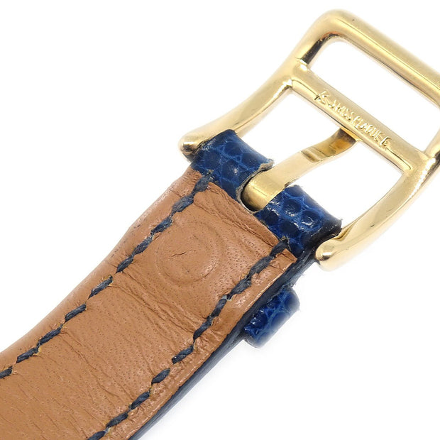 Hermes Kelly watch Ladies Quartz Wristwatch Watch Lizard skin Blue
