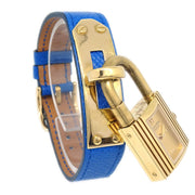 Hermes Kelly watch Ladies Quartz Wristwatch Watch Couchevel Blue