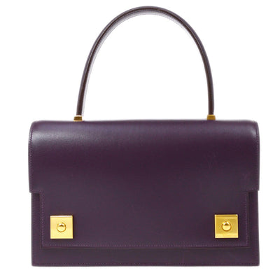 HERMES PIANO Hand Bag Purple Box Calf