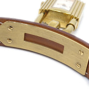 Hermes Kelly watch Ladies Quartz Wristwatch Watch Couchevel Brown